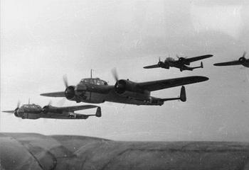 A flight of Dornier Do-17 bombers in a training exercise.jpg