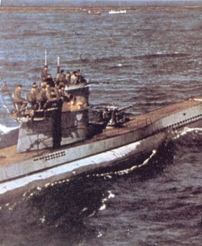 A surrendered German submarine in the Atlantic.jpg