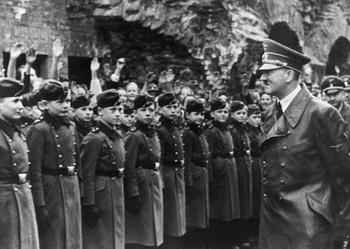 Adolf Hitler Visits the National Political Educational Institute [Napola] in Graz (April 1941).jpg