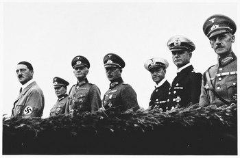 Adolf Hitler, Hermann Göring, Werner von Blomberg, Werner Freiherr von Fritsch and Erich Raeder.jpg