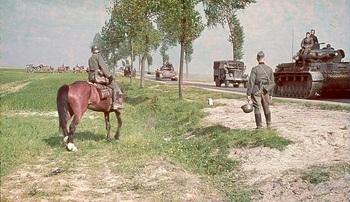 Advancing through Holland and Belgium 1940.jpg