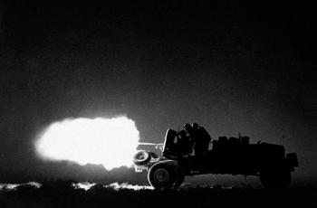 Anti-tank guns on wheels had a high mobility and can move quickly through the desert.jpg