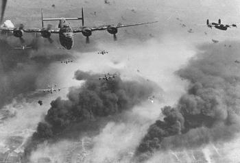B-24D's fly over Polesti during.jpg