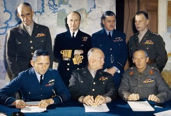 Bradley,Ramsay,Leigh-Mallory, Bedell Smith,Tedder,Eisenhower,Montgomery,.jpg