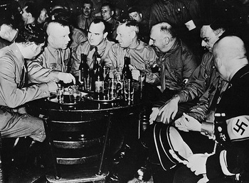 Brownshirts in a Munich beer hall in the early 1920s..jpg
