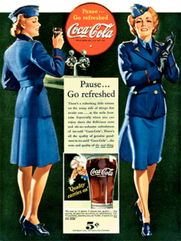 Coca-Cola circa 1942 'Pause...Go refreshed'.png