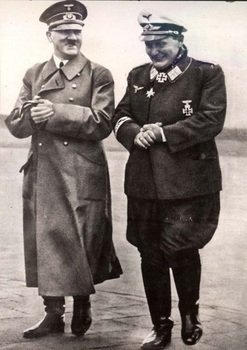 Compiegne, France, June 1940, Hitler and Goering before the signing.jpg