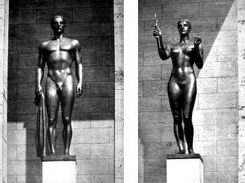 Der Zehnkämpfer fürs_Die Siegerin fürs Olympia-Stadion, Berlin (1936).jpg