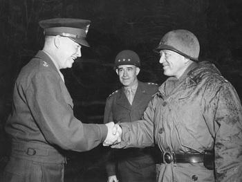 Eisenhower, Bradley, and Patton at Bastogne.jpg