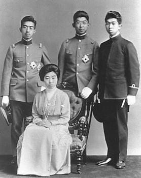 Emperor Shōwa,Hirohito,Chichibu,Takamatsu and Empress Teimei.jpg