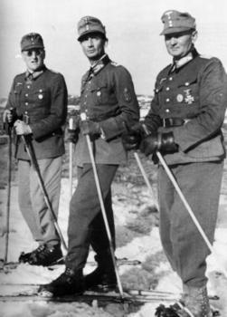 Ferdinand Schörner , Colonel General Eduard Dietl and General Georg Ritter von Hengl.jpg