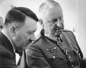 Field Marshal von Manstein with Hitler, September 1943.jpg