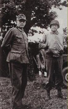 Generalleutnant Karl-Wilhelm von Schlieben standing with Major General Manton S. Eddy.jpg