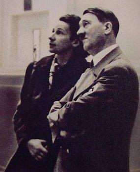 Gerdy Troost (the wife of Paul Troost) and Adolf Hitler.jpg