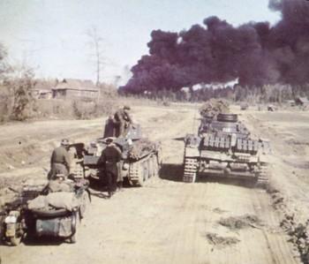 German panzers in Russian road.jpg