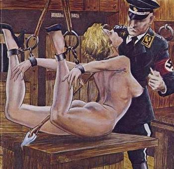 Gestapo behaviour towards women and young girls.JPG