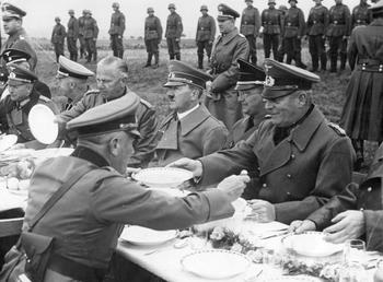 Guderian & Hitler have a lunch with his generals in Sudetenland.jpg