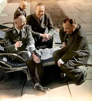 Heinrich Himmler, Walther Hewel, Martin Bormann sharing a joke on the Berghof terrace.jpg