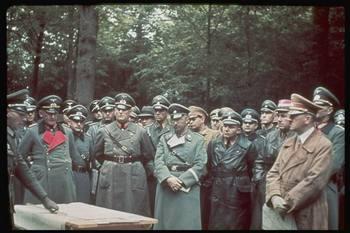 Hitler (L, in brown) inspecting West Wall, w. (2L-R) engineer Fritz Todt, Martin Bormann & Heinrich Himmler.jpg