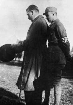 Hitler and Gerhard Rossbach at an SA meeting on the Frottmaning Heath near Munich 1923.jpg