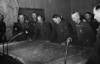 Hitler_Halder and Chief of the German General Staff in Conference.jpg