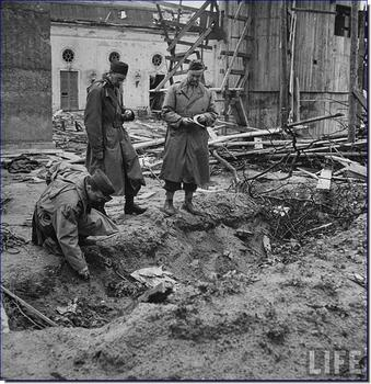In this trench Kempka burned the bodies of Hitler and Eva Braun.jpg