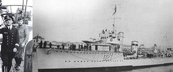 Kptlt. Kretschmer (right) after patrol on U-99_Walker V & W-class Destroyer.jpg