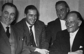 Kurt Meyer, Jochen Peiper, Otto Günsche, Josef  Dietrich,A first meeting after the war.jpg