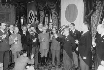 Matsuoka_ Eugen Ott Officials Toast World War II Pact.JPG