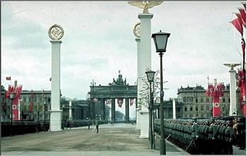 Military demonstration at Hitler's 50th birthday celebration in Berlin. April 20, 1939.jpg