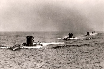 Ostsee, Germany, German submarines in a drill, July 1939..jpg