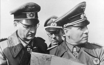 Pas de Calais, Speidel, Lang, Rommel.jpg