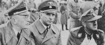 Reichskommissar Seyss-Inquart, Höhere SS und Polizeiführer Rauter en Befehlshaber der Waffen-SS Demelhuber.jpg
