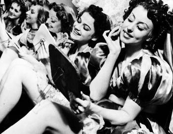 The Hiller Girls, one of the most famous ballet groups in the world, backstage. 1941.JPG