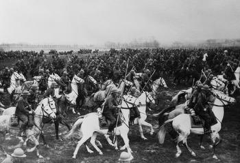 The Polish cavalry rides out to meet the armies of the Third Reich in 1939.JPG