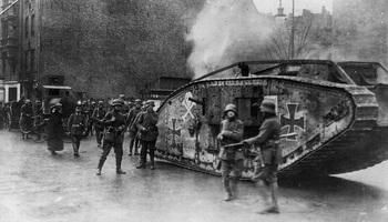 The Spartacist uprising_Mk IV Tank in Berlin, 1919.jpg
