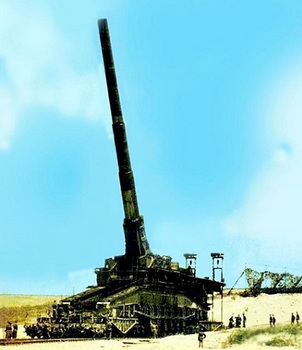 The monster 807 mm German gun called 'Dora' in action in Russia.jpg