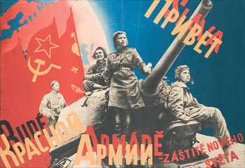 This poster celebrates the liberation of Prague by Soviet troops.jpg