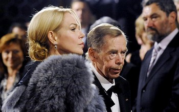 Václav Havel and his wife.jpg