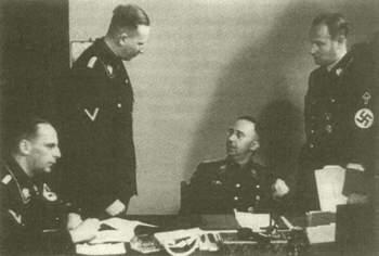 Werner Lorenz, Reinhard Heydrich, Heinrich Himmler and Karl Wolff.jpg