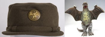 Women's Army Auxiliary Corps chocolate brown hobby hat, 1942.jpg